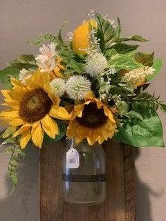 Sunflower and Lemon Bouquet