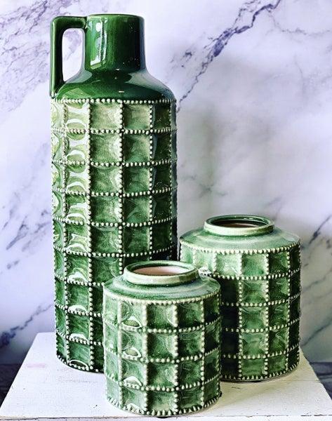 Green Terra Cotta Bottle