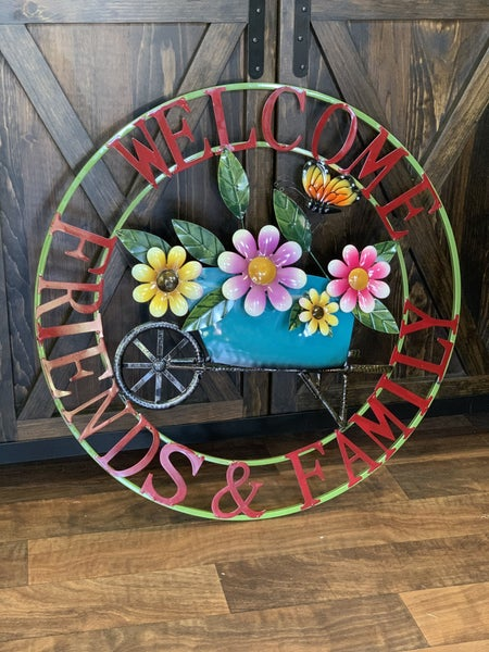 """28"""" Round Welcome Wall Sign"""