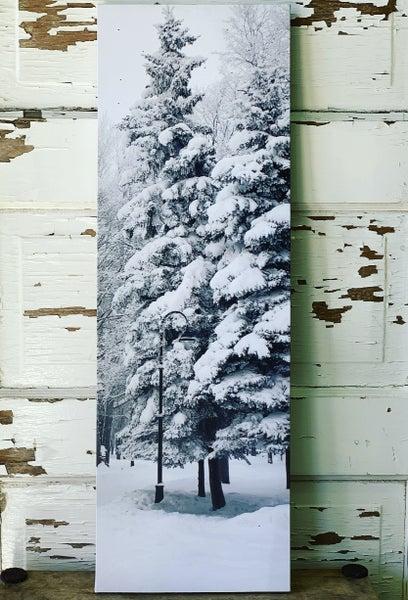 Snow Tree Light up Canvas