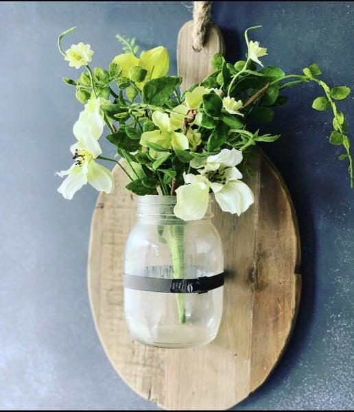 Hanging Cutting board W/ Jar