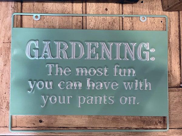 Enamel Gardening Sign