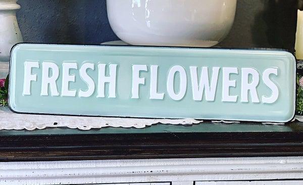 Enamel Flower Garden Sign
