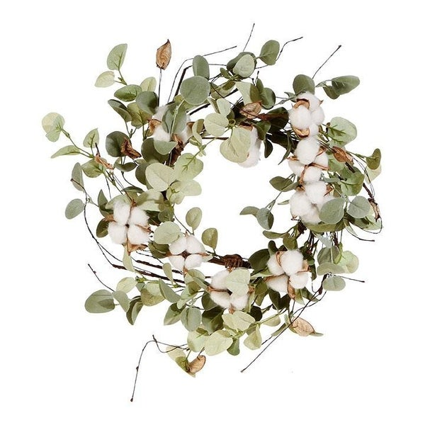 Eucalyptus and Cotton Candle Ring