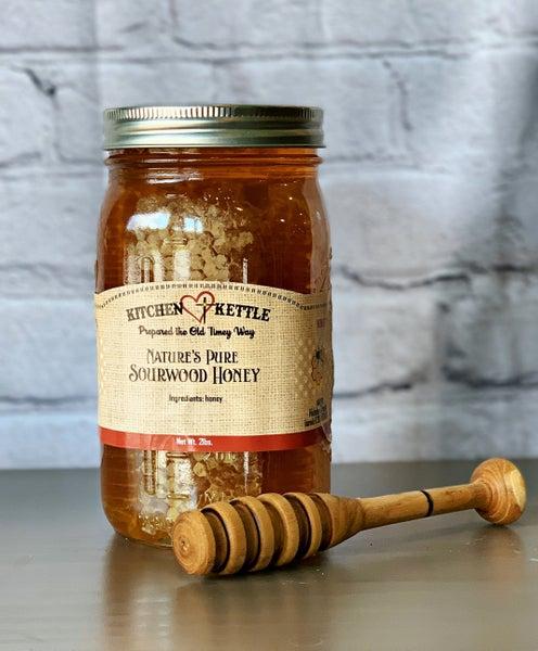 Sourwood Honey with Comb (1 Qt)