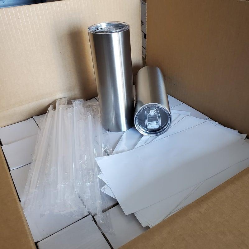 Case of 20 oz STRAIGHT Sublimation Tumbler