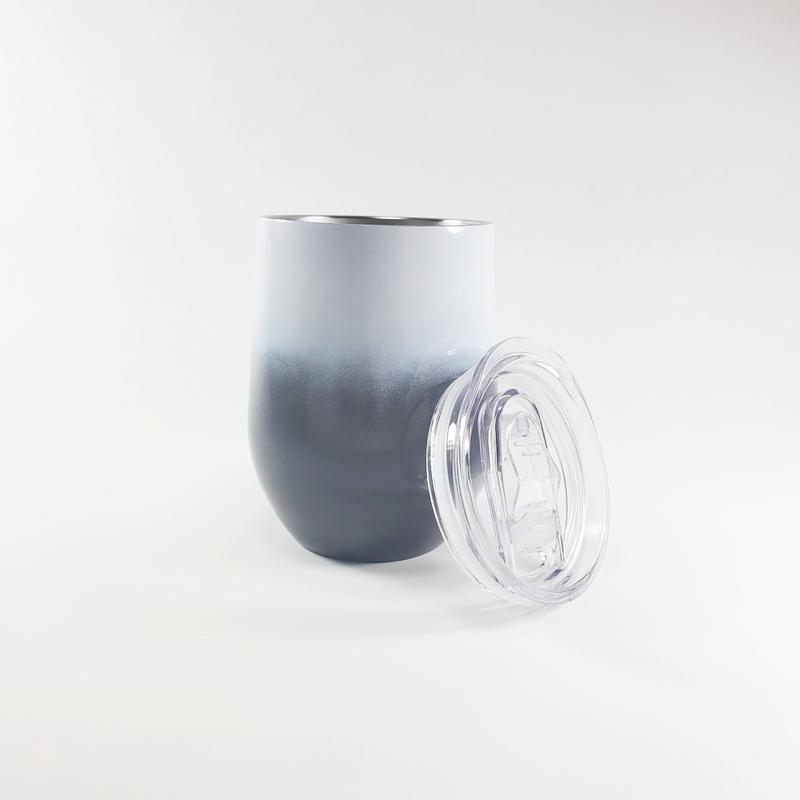 Wine W/ Black Gradient Color Sublimation Tumbler 12 Oz