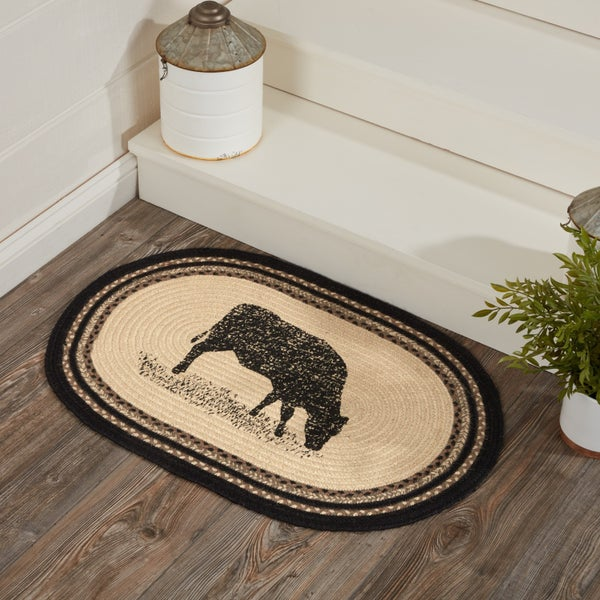 Braided Rug, Cow