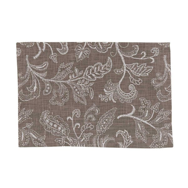 Stitches Taupe Placemat *Final Sale*