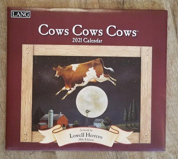 2021 Wall Calendar, Cows Cows Cows