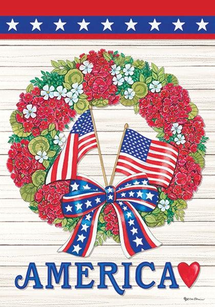 Garden Flag - Flag Wreath
