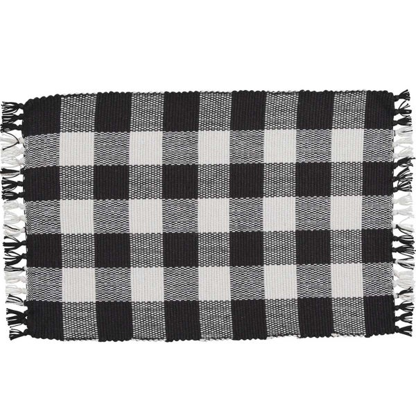 Placemat, Black & Cream Buffalo Check