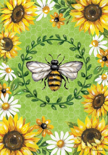 Garden Flag - Bumblebee Sunflowers
