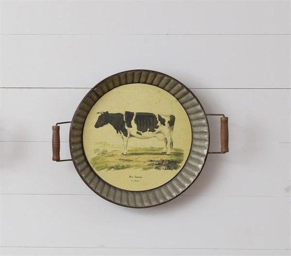 Hanging Farm Tray, Cow