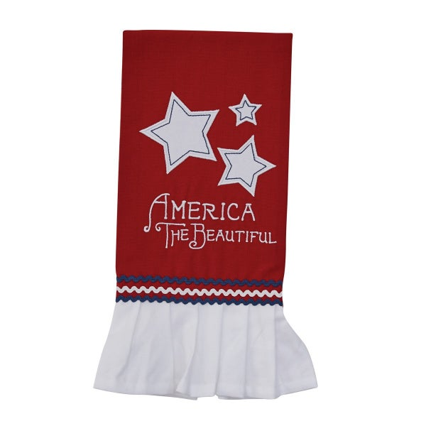 America Appliequed Towel