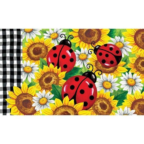 Floor Mat - Sunflower Ladybugs