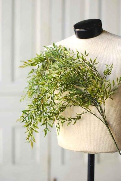 """Hanging Sage Leaf Drape, 33"""""""