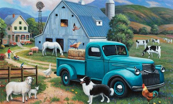 Floor Mat - Farm Truck