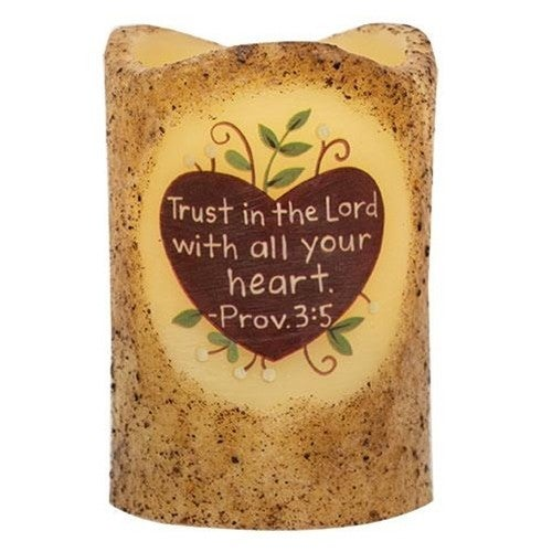 Electric PIllar Candle - Trust In The Lord