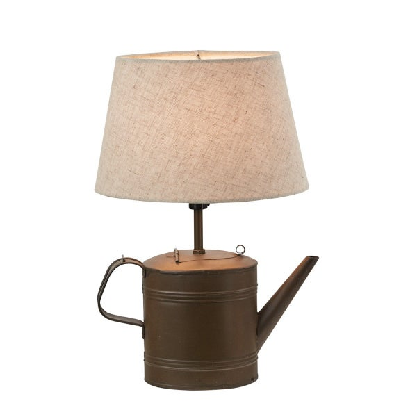 Tin Kettle Lamp with Shade
