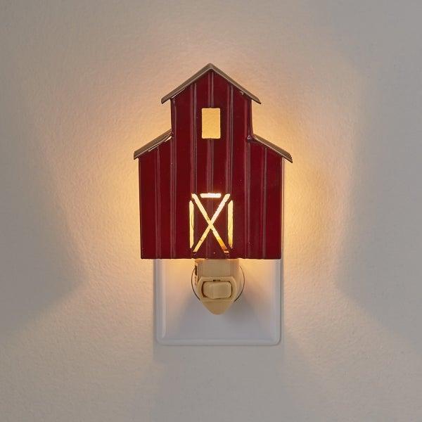 21961Night Light - Red Barn