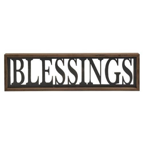 BLESSINGS Cut Out Sign