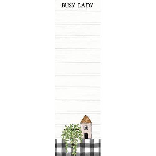 Magnetic Notepad - Busy Lady