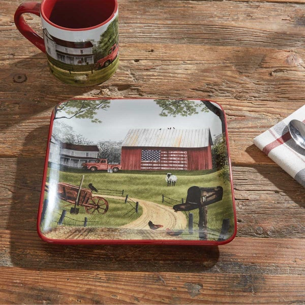 Salad Plate - Barn with Truck