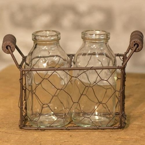 2 Bottles w/ Wire Carrier