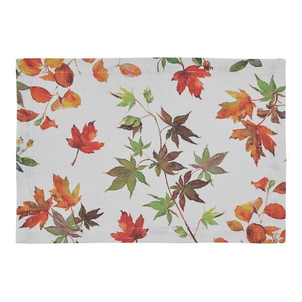 Linen Placemat - Leaves