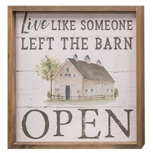 Frame - Barn Door Open