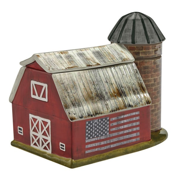 Cookie Jar - Barn with Silo