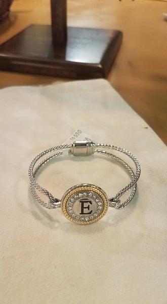 Initial Bracelet, Magnetic Clasp