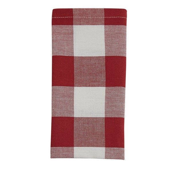 Red and Cream Check Napkin