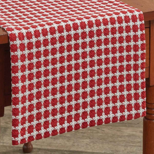 Crossings Red Table Runner, 54""