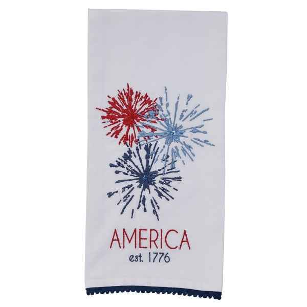 Embroidered Towel - America