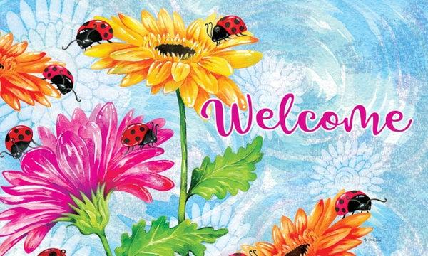 Floor Mat - Ladybugs & Sunflowers