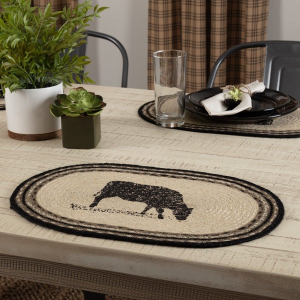 Braided Placemat, Cow