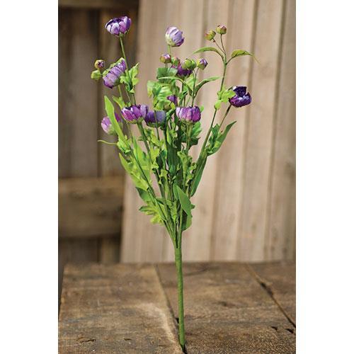 Wild Mums & Leaves Bush - Purple
