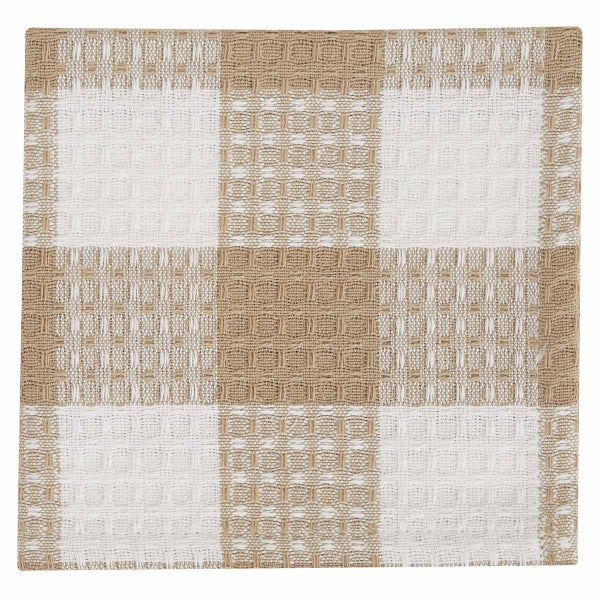 Dish Cloth - Tan & White