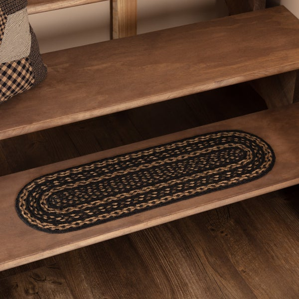 "Braided Stair Tread, 8"" x 28"" Oval Farmhouse"