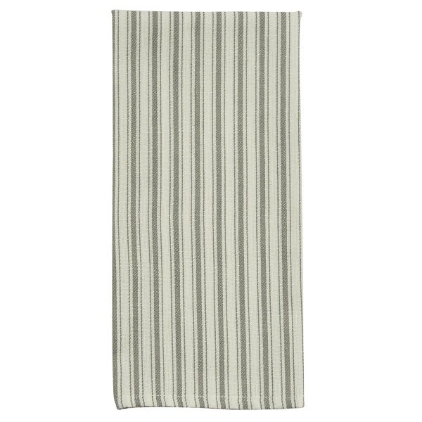 Gray Striped Dish Towel - Crossings