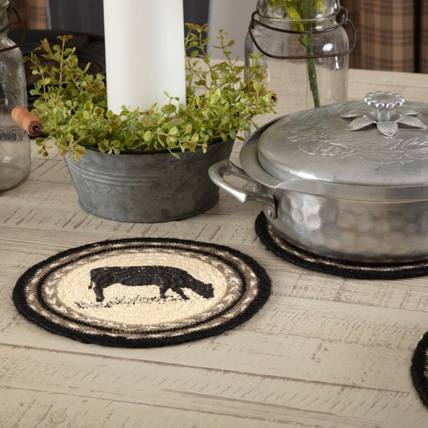 Braided Trivet, Cow