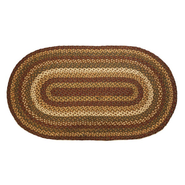 "Braided Rug 27"" x 48"" Tea Cabin"