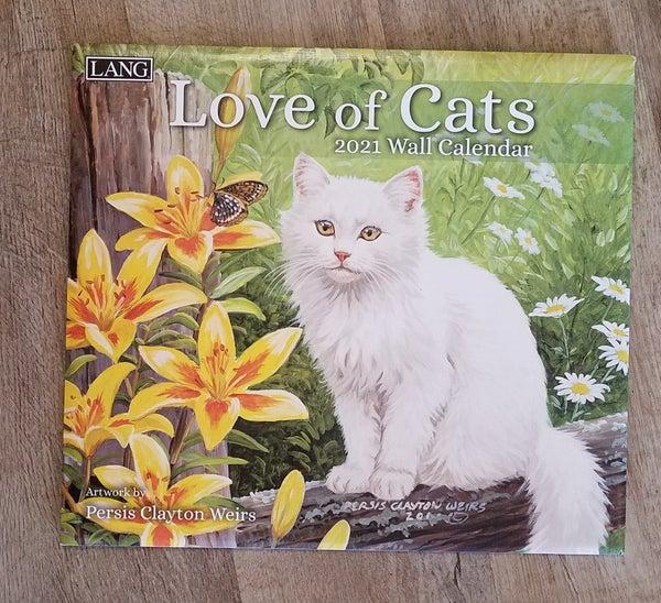 2021 Wall Calendar, Love of Cats