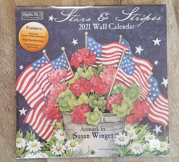 2021 Wall Calendar, Stars & Stripes