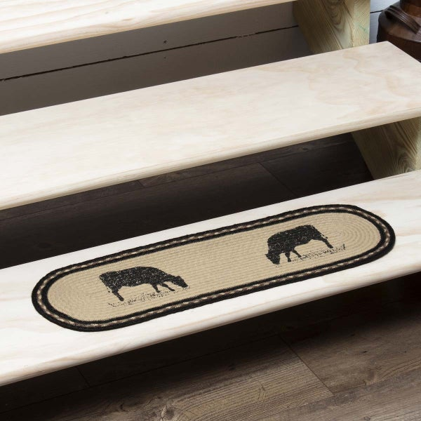 Braided Stair Tread, Cow