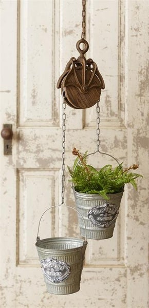 Double Planter with Pulley