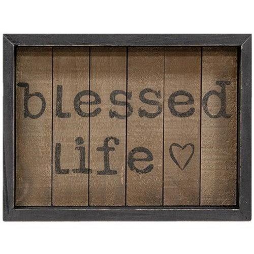 Framed Sign - Blessed Life