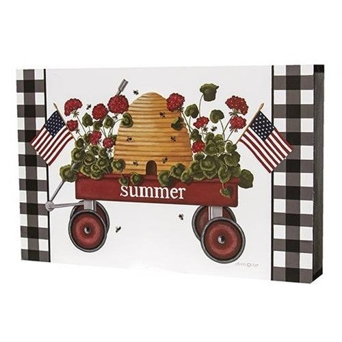 Summer Wagon Box Sign